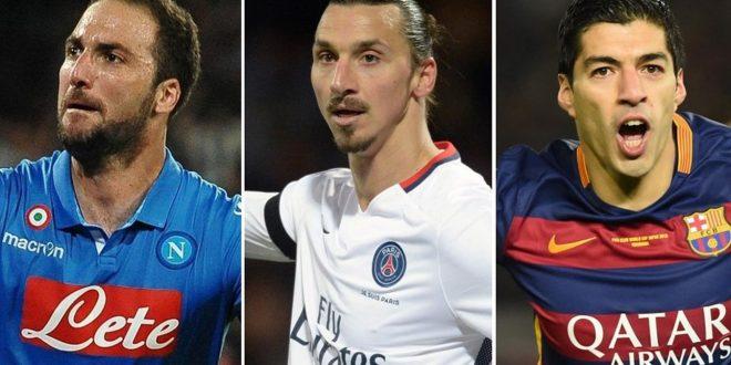 Iffhs, l'attaccante migliore è Luis Suarez; dietro di lui Ibrahimovic e il Pipita Higuain