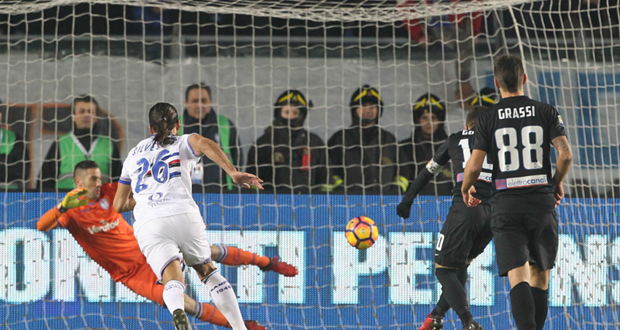 Serie A, 21ª giornata: Atalanta-Sampdoria 1-0, decide il rigore di Gomez