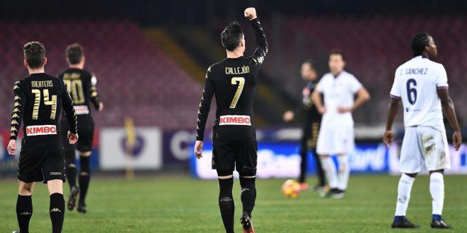 Coppa Italia, quarti: Napoli-Fiorentina 1-0, a Sarri basta Callejon