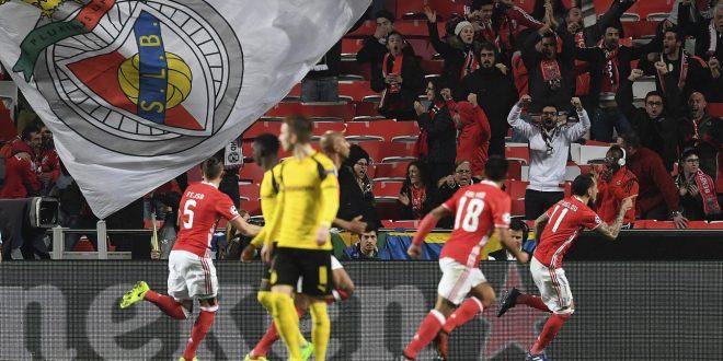 Champions: vittoria d'altri tempi del Benfica, 1-0 tutto sofferenza al Dortmund sciupone