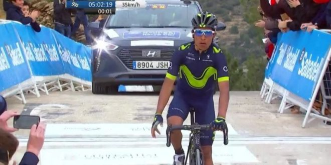 Vuelta Valenciana 2017, primo squillo di Nairo Quintana