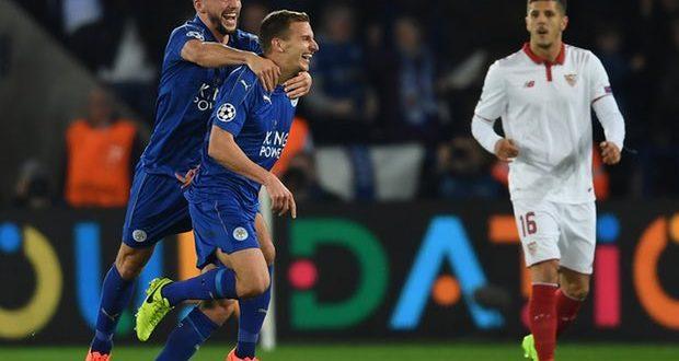 Champions League, il Leicester ha fatto la storia: 2-0 al Siviglia, Foxes ai quarti!