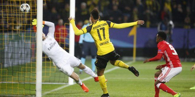 Champions, ottavi: Borussia Dortmund-Benfica 4-0, Aubameyang torna una furia