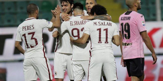 Serie A, 28ª giornata: Roma, controsorpasso per il 2° posto; Palermo regolato 3-0 al Barbera