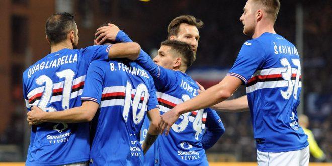 Serie A, 27ª giornata: Sampdoria batte Pescara 3-1, Quagliarella è davvero libero