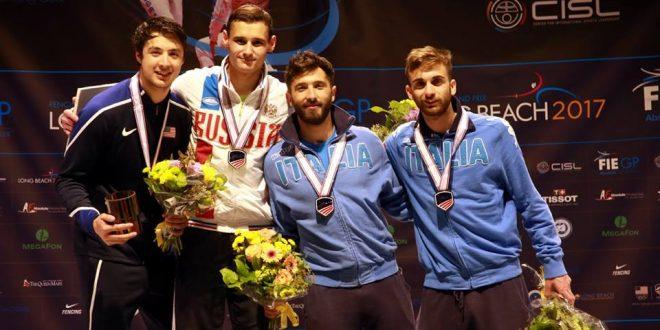 CDM Scherma, a Long Beach tre bronzi azzurri dal Grand Prix di fioretto