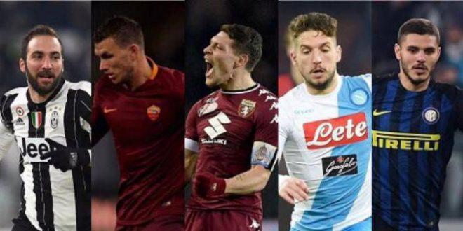 """Serie A, il ritorno dei """"nove"""": già in 6 sopra quota 20 gol, il campionato è da record"""