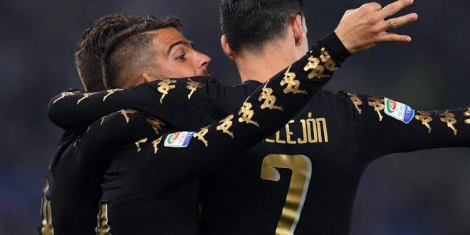 Serie A, 31ª giornata: Lazio-Napoli 0-3, Callejon e mago Insigne blindano la 3ª piazza