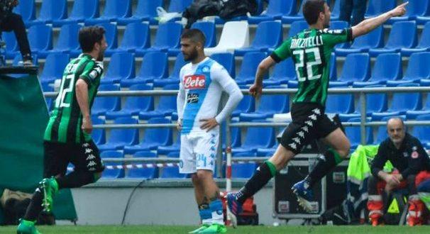 Serie A, 33ª giornata: Sassuolo-Napoli 2-2; a Sarri non basta Milik, il 2° posto s'allontana