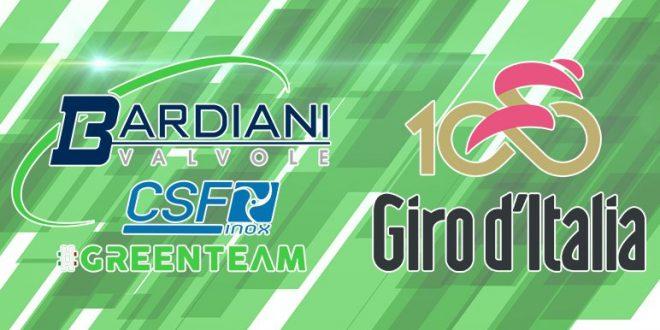 Bardiani-Csf, svelato il #greenteam per il Giro 100