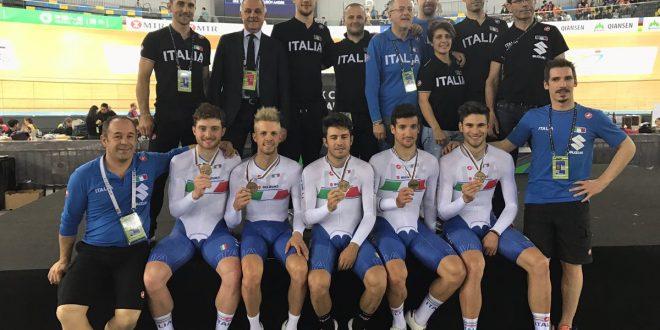 Mondiali pista 2017, 2^ giornata. Quartetto azzurro di bronzo: è podio dopo 19 anni!