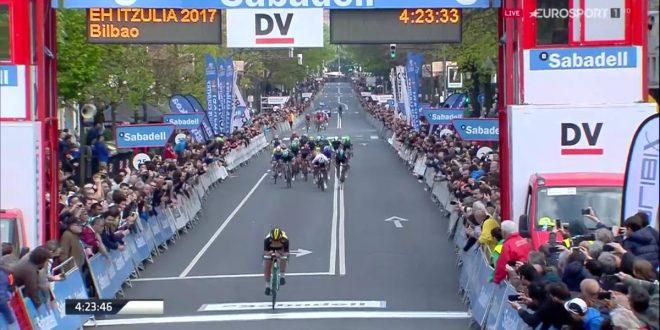 Giro dei Paesi Baschi 2017, stoccata di Roglic a Bilbao. Terzo Visconti
