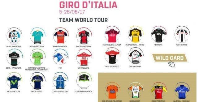 Giro d'Italia 2017: le squadre [parte 3]