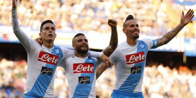 Serie A, 38ª giornata: Sampdoria-Napoli 2-4, i quattro tenori non bastano, Sarri chiude 3°