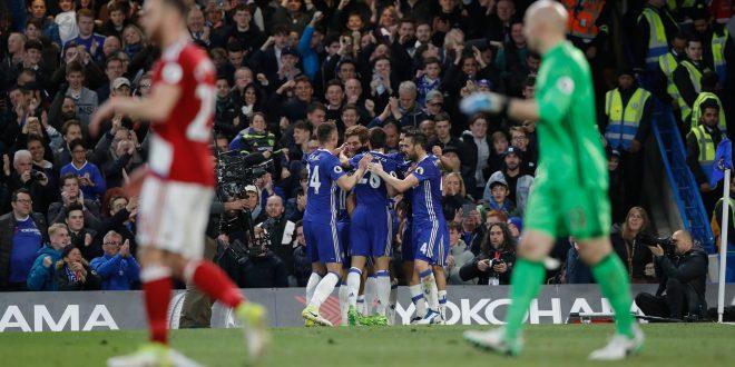 Premier, 35ª giornata: Chelsea-Middlesbrough 3-0; Conte a un passo dal titolo