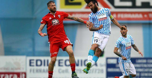 Serie B, 40ª giornata: Spal-Pro Vercelli 0-0, a Ferrara festa di nuovo rinviata