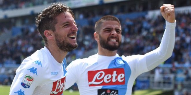 Serie B, 35ª giornata: Napoli-Cagliari 3-1, Mertens fa 30 e lode