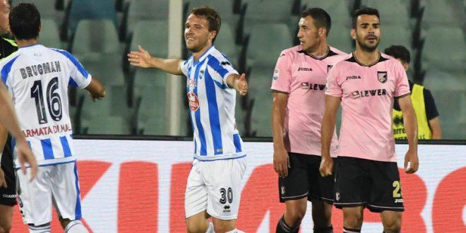 Serie A, 37ª giornata: Pescara-Palermo 2-0 in un Adriatico deserto