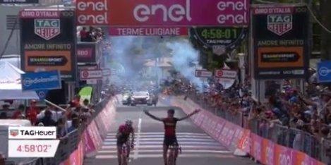 Giro d'Italia 2017, arriva la fuga a Terme Luigiane: primo Dillier