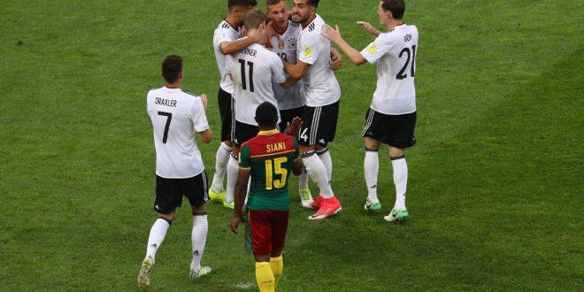 Confederations Cup, 3ª giornata: Germania-Camerun 3-1, campioni del mondo a rapporto