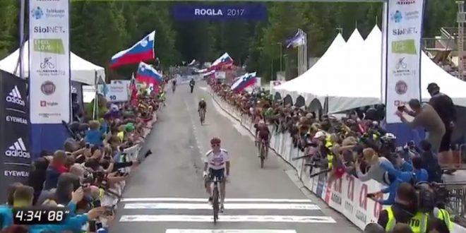 Giro di Slovenia 2017, Majka batte Visconti a Rogla