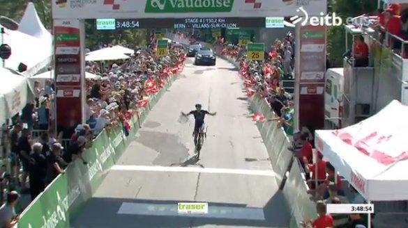 Giro di Svizzera 2017, Warbasse corona la fuga a Villars-sur-Ollon. Caruso nuovo leader