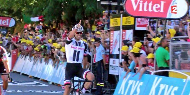 Tour de France 2017, spunto vincente di Matthews a Rodez. Froome ritorna in giallo