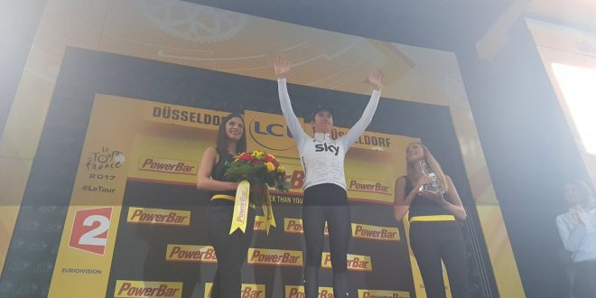 Tour de France 2017, a Dusseldorf è Geraint Thomas la prima maglia gialla