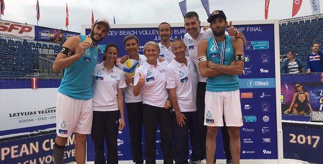Beach volley: a un anno da Rio Lupo/Nicolai festeggiano ancora, Campioni d'Europa!