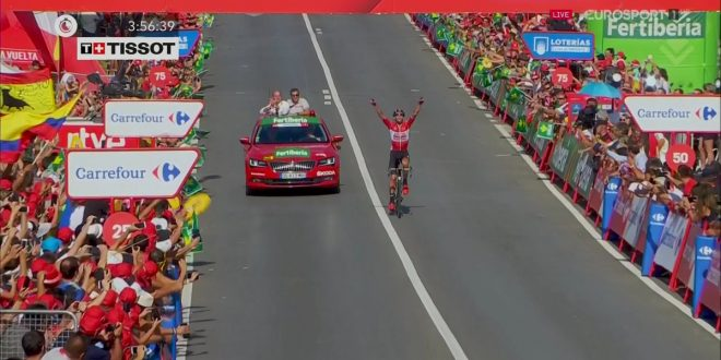 Vuelta a Espana 2017, bis Marczynski ad Antequera. Contador attacca, Froome cade, Nibali guadagna