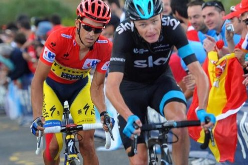 Vuelta a Espana 2017: i compagni di Froome (Sky) e Contador (Trek-Segafredo)