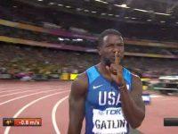 gatlin atletica mondiali londra 2017