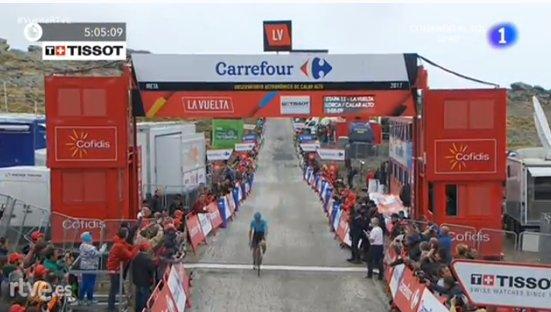 Vuelta a Espana 2017, a Calar Alto Lopez cala l'asso. Cuore Nibali, ma non basta