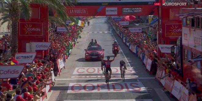 Vuelta a Espana 2017, fuga vincente di Marczynski a Sagunto