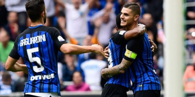 Serie A, 3ª giornata: Inter-Spal 2-0, Icardi+Perisic e la Benamata fa tre su tre