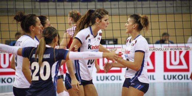 Europei volley femminile 2017, Italia ai quarti in carrozza: anche la Croazia al tappeto