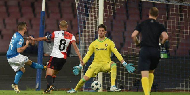 Champions, 2ª giornata: Napoli-Feyenoord 3-1, i tre tenori suonano la sinfonia europea