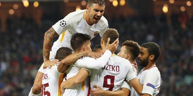 Champions, 2ª giornata: Qarabag-Roma 1-2, giallorossi col fiatone