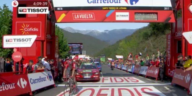 Vuelta a Espana 2017, gioia Sander Armee a Santo Toribio. Orgoglio Aru, riscatto Froome