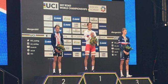 Mondiali Bergen 2017, danese Bjerg oro nella crono under 23