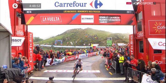 Vuelta a Espana 2017, Denifl primo a Los Machuchos. Contador e Nibali staccano Froome