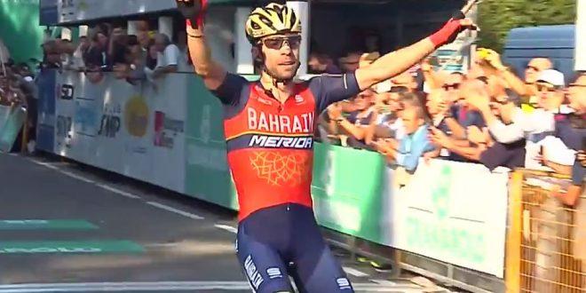 Giro dell'Emilia 2017, dominio Bahrain-Merida: Visconti precede Nibali
