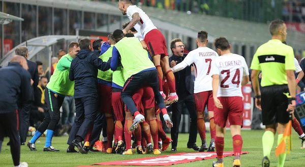 Serie A, 7ª giornata: Milan-Roma 0-2, 5' minuti e i giallorossi sbancano San Siro