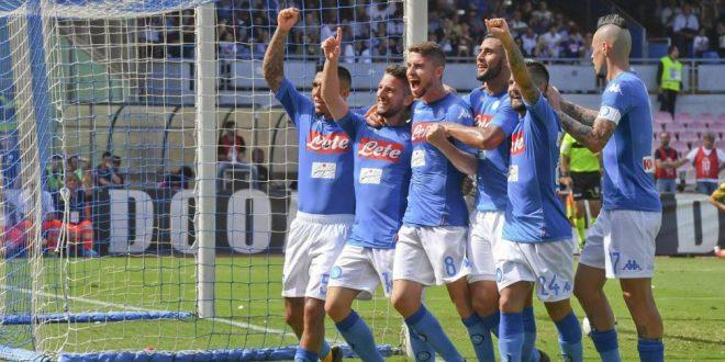 Serie A, 7ª giornata: Napoli-Cagliari 3-0, partenopei sette bellezze!