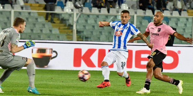 Serie B, 13ª giornata: Pescara-Palermo 2-2 fra sorpassi e controsorpassi