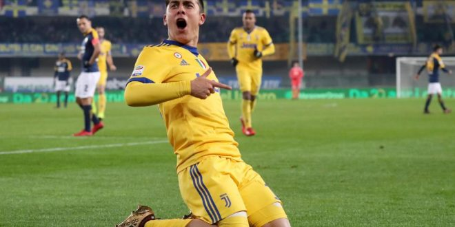 Serie A, 19ª giornata: Verona-Juventus 1-3, Joya-bis e Allegri sempre a -1 dal Napoli