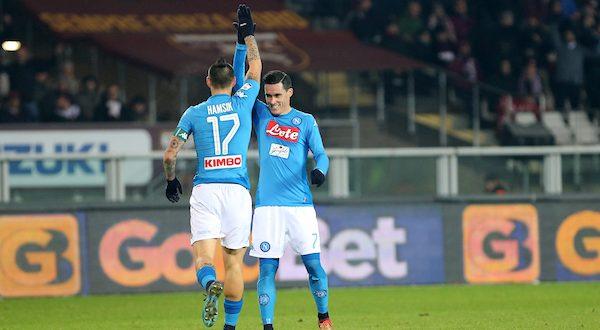 Serie A, 17ª giornata: Torino-Napoli 1-3; 115-Hamsik, è nella storia con Maradona!