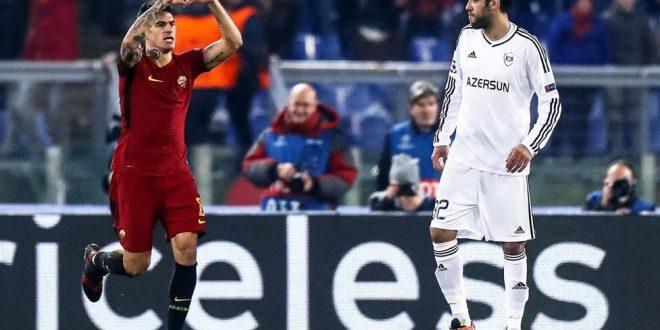 Champions, 6ª giornata: Roma-Qarabag 1-0, giallorossi agli ottavi da primi!
