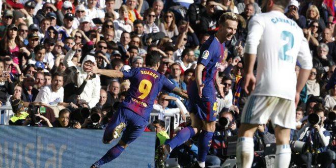 Liga, Real-Barcellona 0-3: delirio blaugrana al Bernabeu, campionato finito!