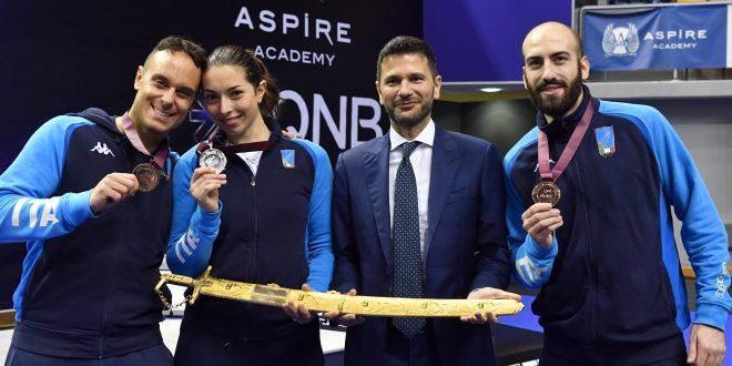 CDM Scherma, tre medaglie azzurre dal Grand Prix di spada a Doha